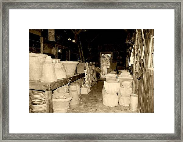 Framed Print featuring the photograph Old Maine Barn by AnnaJanessa PhotoArt