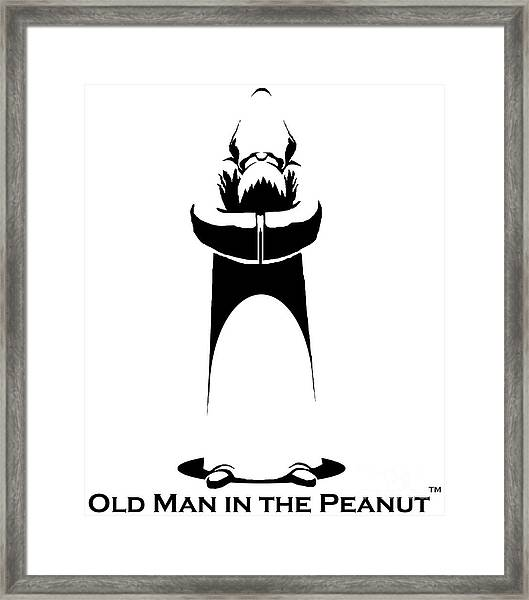Old Man In The Peanut Framed Print