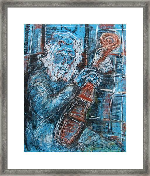 Old Man's Violin Framed Print