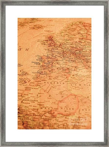 Old Maritime Map Framed Print