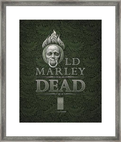 Old Marley Framed Print