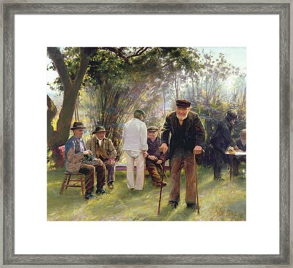 Old Men In Rockingham Park Framed Print