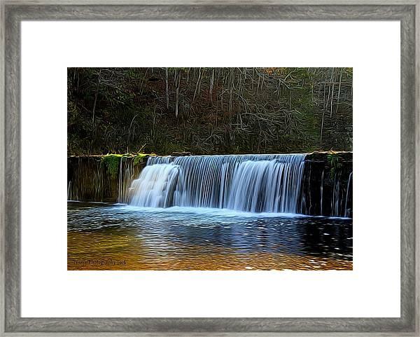 Old Mill Dam Framed Print