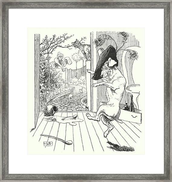 Old Mother Hubbard Framed Print