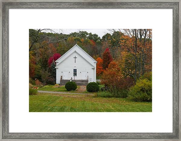 Old New England Church Framed Print