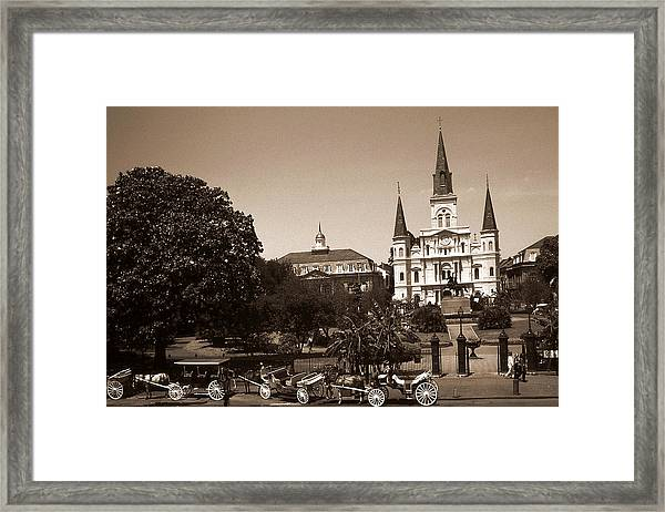 Old New Orleans Photo - Saint Louis Cathedral Framed Print