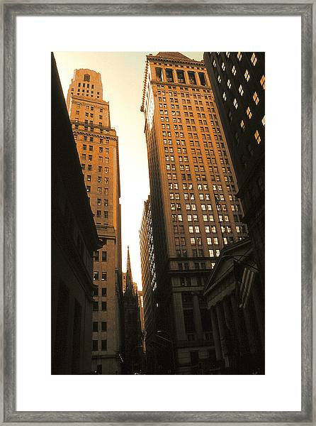 Old New York Wall Street Framed Print