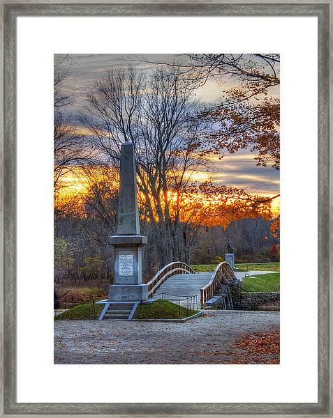 Old North Bridge - Concord Ma Framed Print