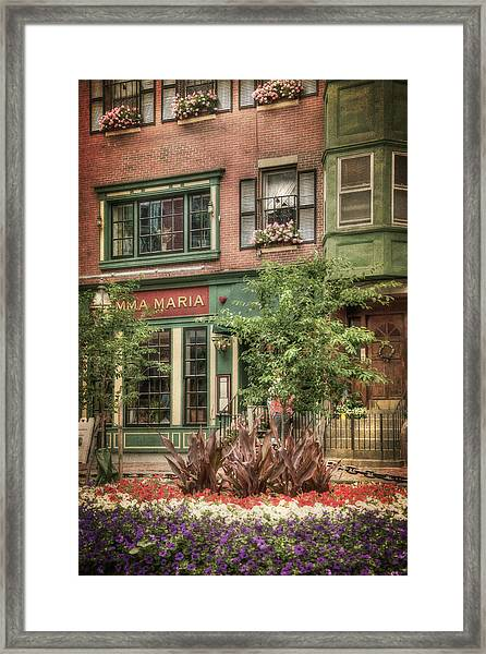 Old North End - North Square - Boston Framed Print