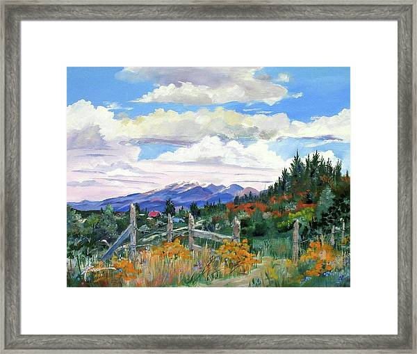 Old North Fence-in Colorado Framed Print