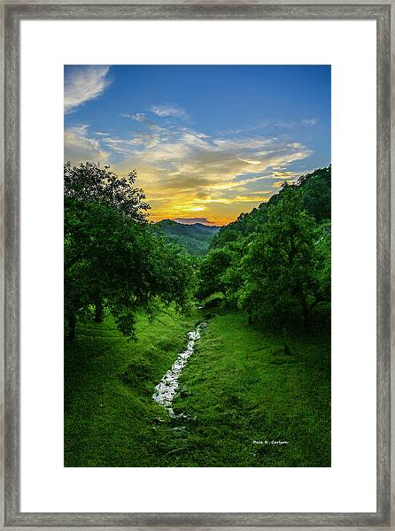 Old Orchard Glow Framed Print