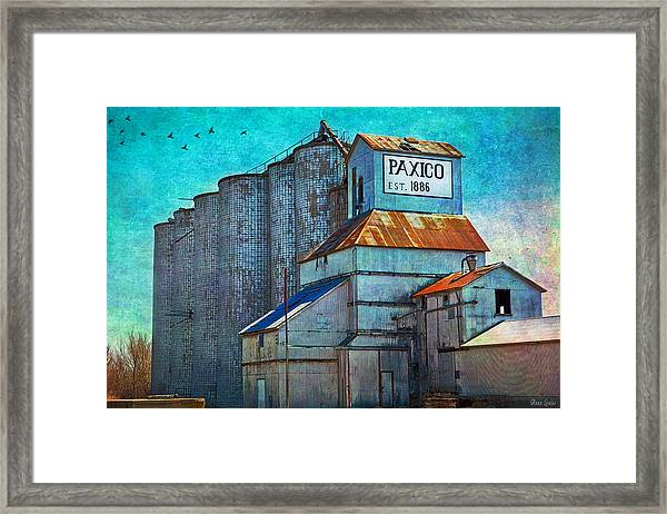Old Paxico Kansas Grain Elevator Framed Print