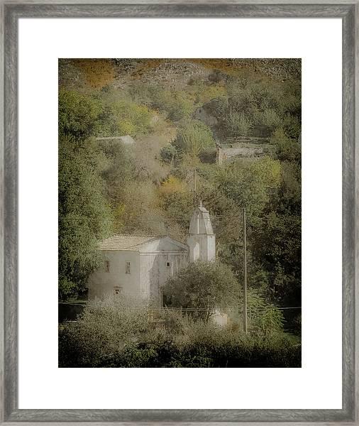 Framed Print featuring the photograph Old Perithia, Corfu, Greece - Saint Spiridon by Mark Forte