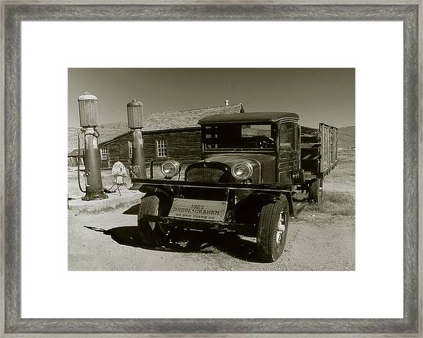 Old Pickup Truck 1927 - Vintage Photo Art Print Framed Print