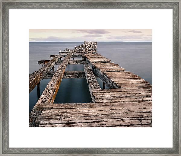 Old Pier In Punta Arenas Framed Print