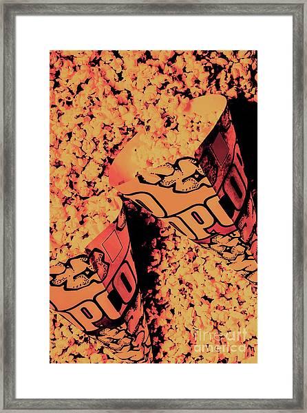 Old Pop Corn Culture Framed Print