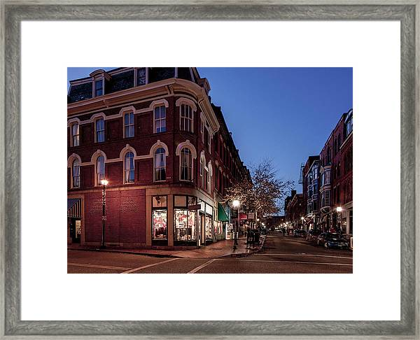 Old Port, Portland Maine Framed Print