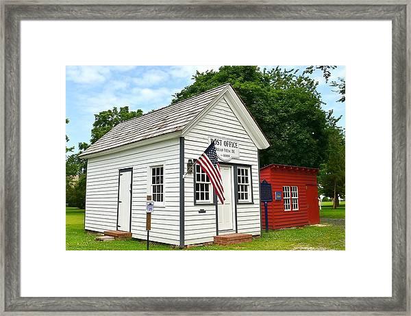 Old Post Office - Ocean View Delaware Framed Print