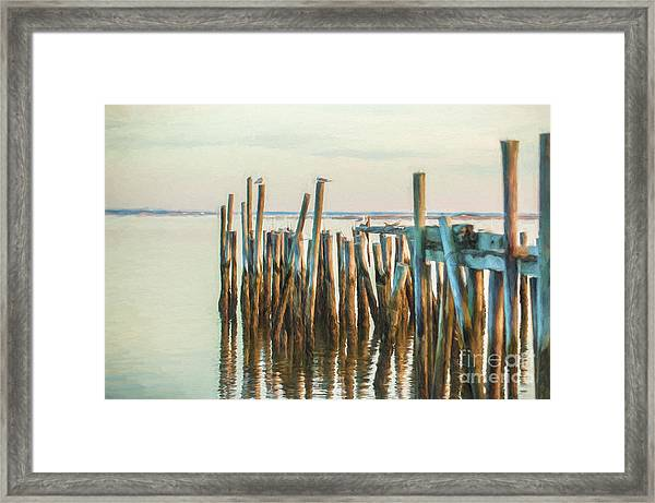 Old Provincetown Wharf Framed Print
