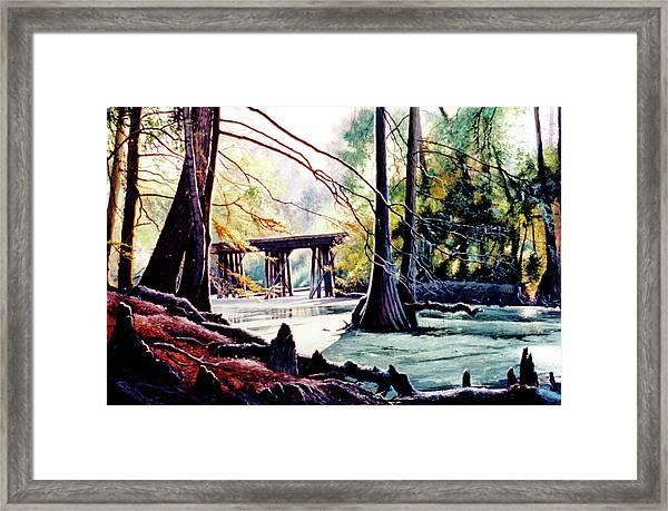 Old Railroad Bridge Framed Print
