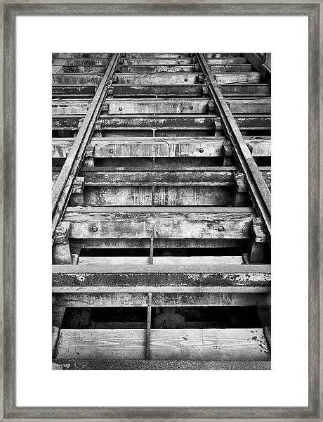 Old Rails At Mill City Museum Framed Print