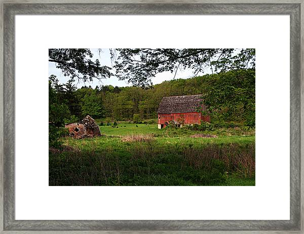 Old Red Barn 2 Framed Print