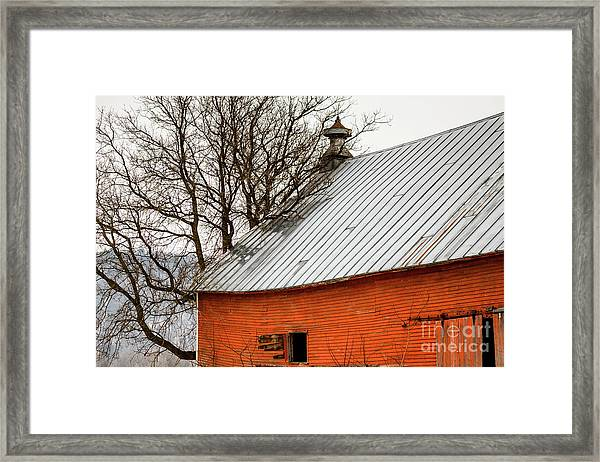 Old Red Barn Quechee Vermont Framed Print