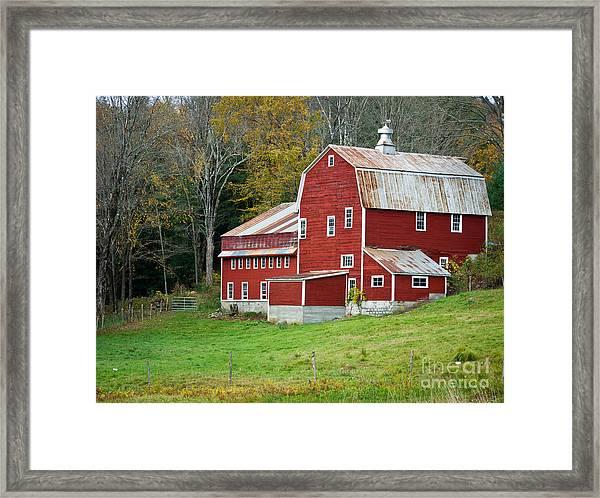 Old Red Vermont Barn Framed Print