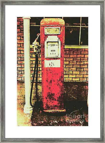 Old Roadhouse Gas Station Framed Print