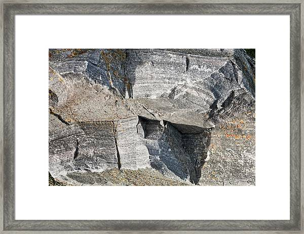 Old Rock Background Framed Print