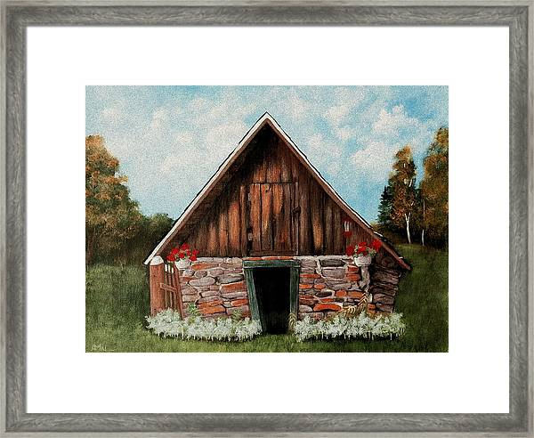 Old Root House Framed Print