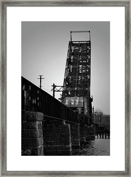 Old Rr Bridge Providence Ri Framed Print