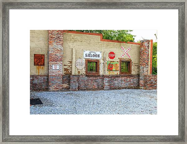Old Saloon Wall Framed Print
