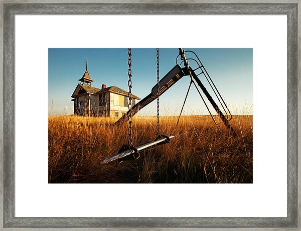 Old Savoy Schoolhouse Framed Print