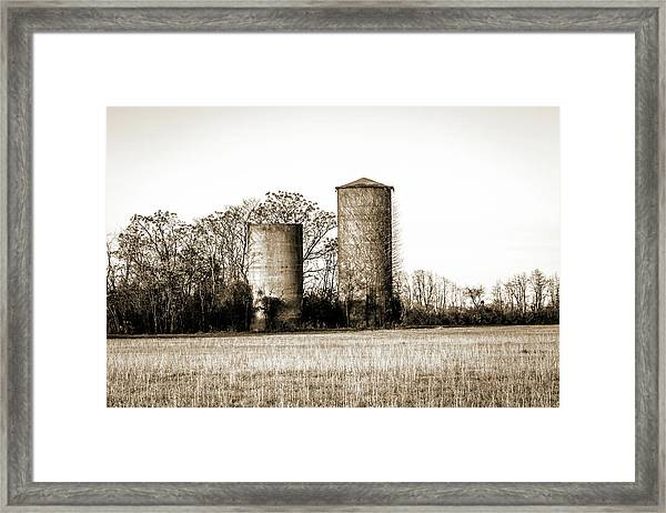 Old Silos Framed Print