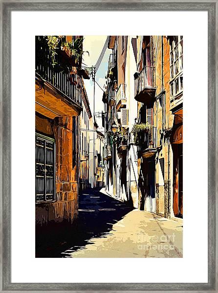 Old Spanish Street Framed Print