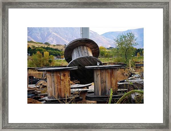 Old Spool Framed Print