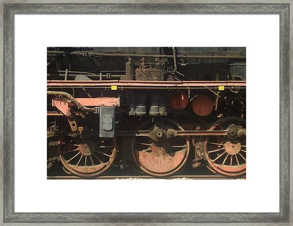 Old  Steam Train ...france Framed Print