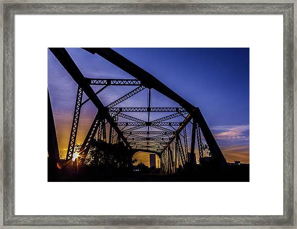 Old Steel Bridge Framed Print