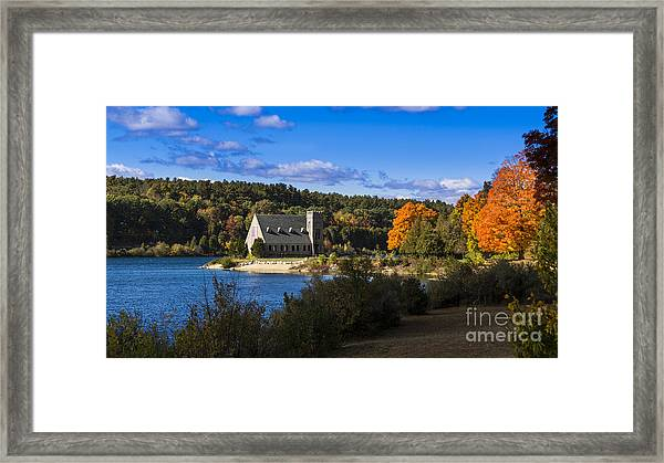 Old Stone Church. West Boylston, Massachusetts. Framed Print