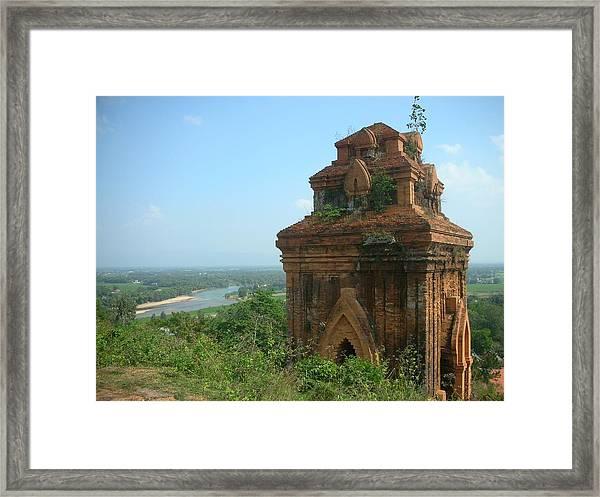 Old Temple In Vietnam Framed Print