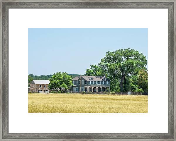 Old Texas Farm House Framed Print