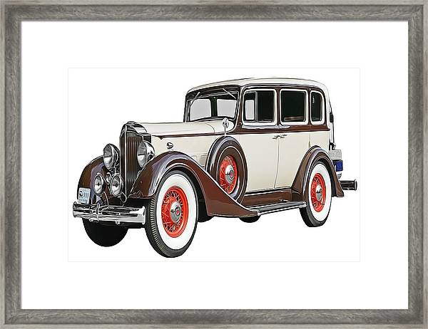 Old Time Auto Framed Print