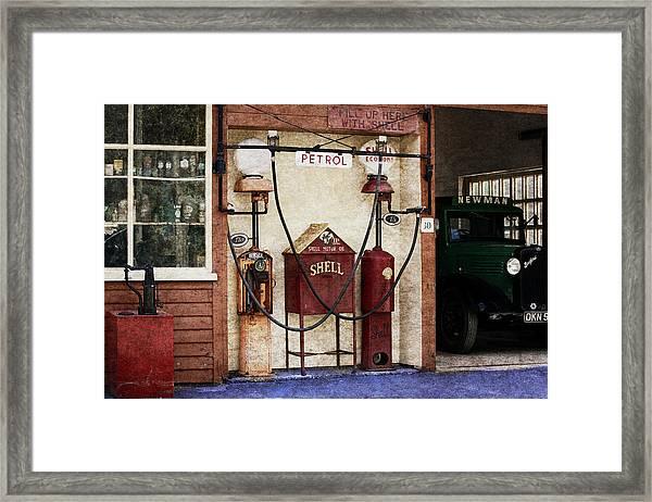 Old Time Gas Station Framed Print