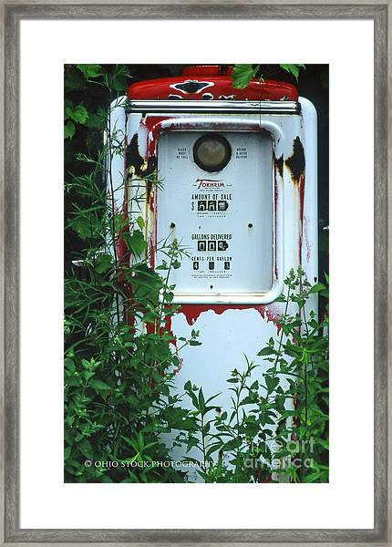 6g1 Old Tokheim Gas Pump Framed Print