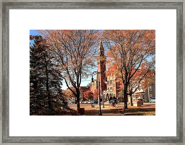 Old Town Hall In The Fall Framed Print
