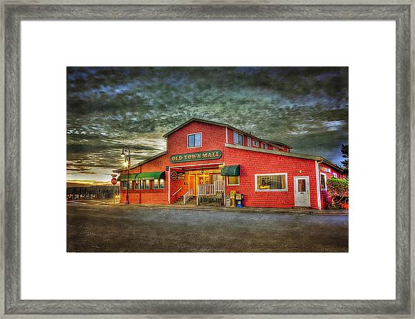 Old Town Mall Bandon Framed Print