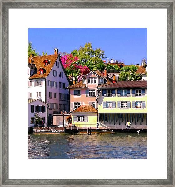 Old Town Zurich, Switzerland Framed Print