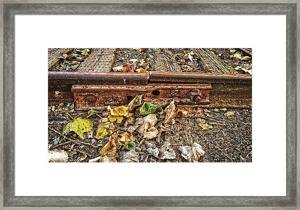 Old Tracks Framed Print