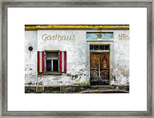 Old Traditional Austrian Tavern Framed Print